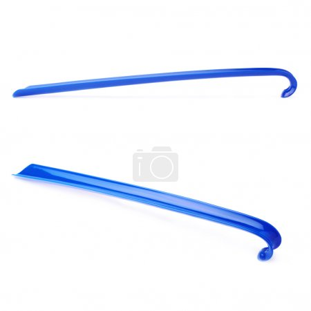 Blue shoehorn isolated over the white background