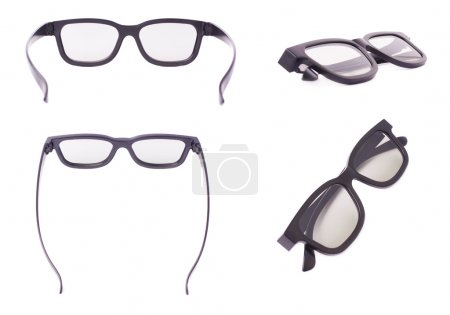 Glasses isolated over the white background
