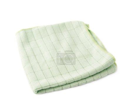 Photo pour Crampon vert plié sur fond blanc isolé - image libre de droit