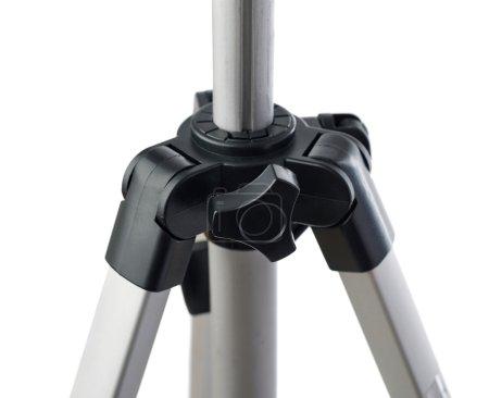 Photo pour Trépied d'appareil photo gris sur fond blanc isolé - image libre de droit