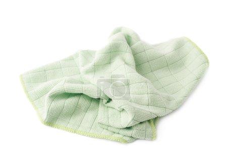 Photo pour Crumpled vert chiffon sur fond blanc isolé - image libre de droit