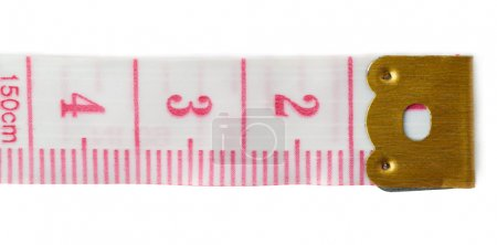 Tailor measuring tape isolated over the white background