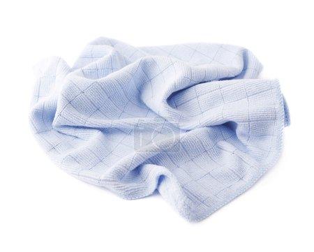 Photo pour Crumpled bleu chiffon sur fond blanc isolé - image libre de droit