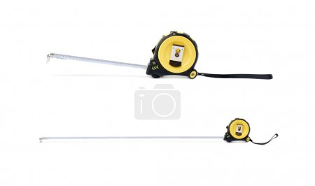 Set of Measuring tape over isolated white background