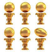 Award sport trophy cup set