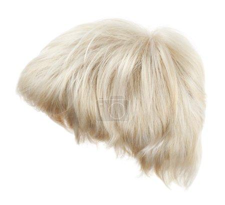 Photo pour Perruque cheveux vague ouverte isolée sur le fond blanc - image libre de droit