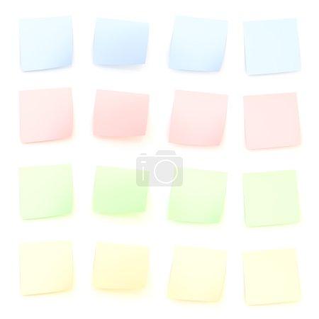 Bent sticker paper notes