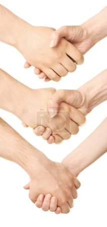 Male and female caucasian hands