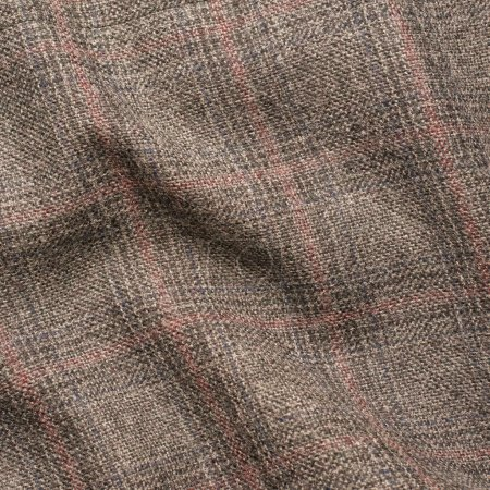 Creased tweed striped jacket cloth material fragme...