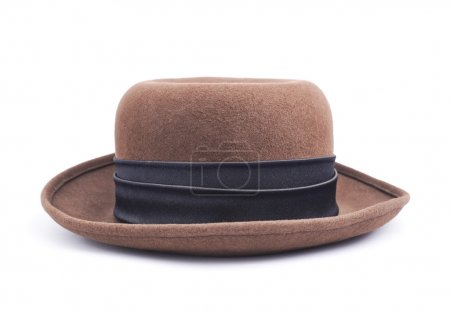 Brown female hat