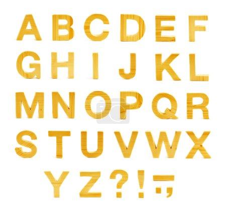 Wooden ABC alphabet