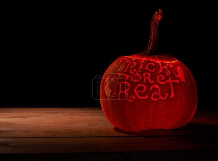 Trick or Treat pumpkin composition