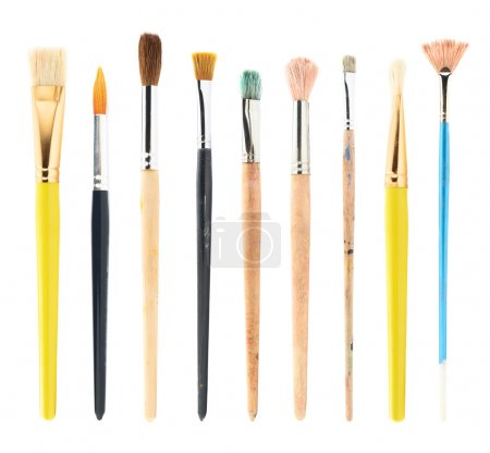 Set of multiple drawing brushes isolated