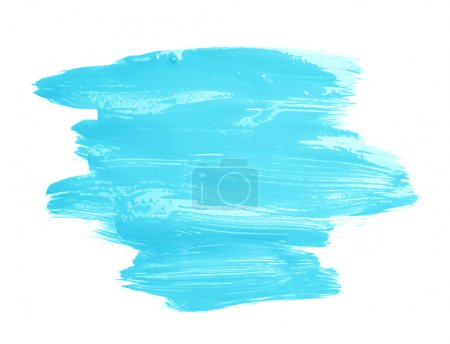Photo for Hand made oil paint brush stroke isolated over the white background as a design element of a backdrop - Royalty Free Image