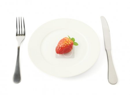 Strawberry fruit in a plate