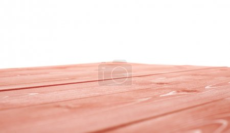 Red paint coated wooden boards