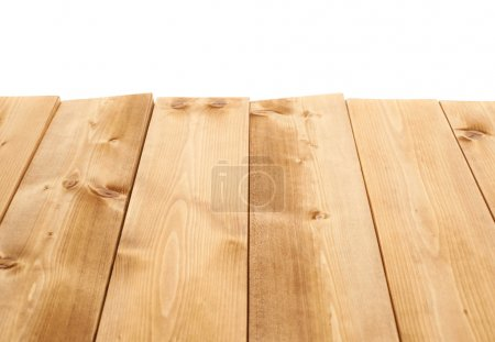 Brown paint coated wooden boards