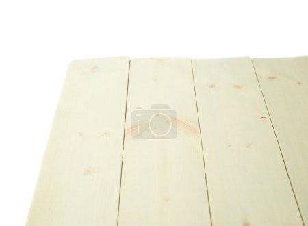 Photo pour Panneaux de pin en bois enduits de peinture blanche comme composition de fond copyspace isolé sur le fond blanc - image libre de droit