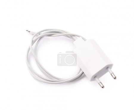 White usb adapter charger