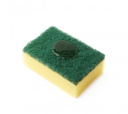 Cleaning sponge with detergent drops