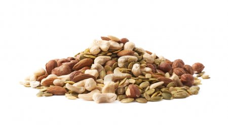 Pile of multiple nuts and seeds