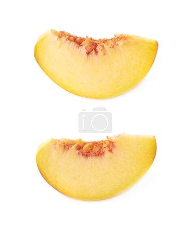 Peach fruit's slices
