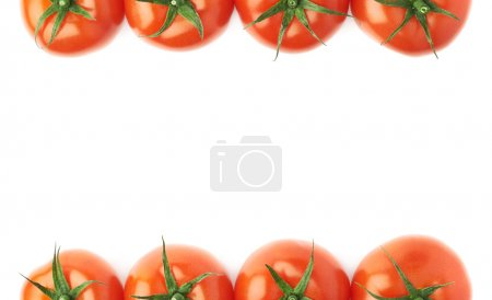 Tomatoes as borders of composition