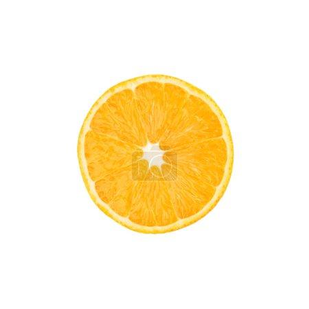 Photo pour Orange mûre que moitié isolée sur fond blanc - image libre de droit