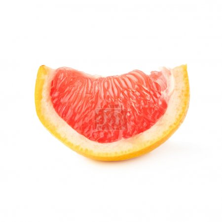 Slice section of grapefruit