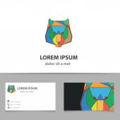 Abstract vector tiger logo lotemplate with business card