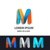 Vector abstract logo infinity design Creative concept icons set letter m