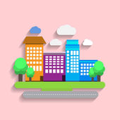 Artistic urban landscape Art city colorful concept Trendy flat design Vector illustration