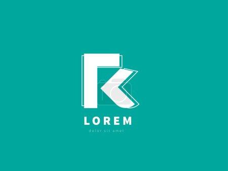 Illustration pour Lettre R, modèle de conception de logo. Logotype vectoriel créatif pour votre entreprise . - image libre de droit