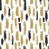 Trendy seamless pattern with ink brush strokes Vector background for your design