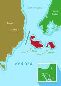 Tiran and Sanafir islands deal between Egypt and Saudi Arabia Editable Clip Art