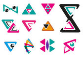 Abstract Triangle for logo or signs in modern style