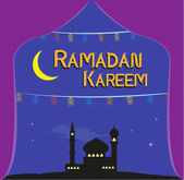 Seasonal Sale Poster Concept Design for Islamic Ramadan Holiday Festival