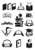 Set of books or novels with different theme Editable Clip Art