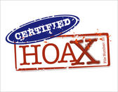 Certified Hoax Stamps in Vector for varied supernatural tales and popular paranormal events Editable Clip Art