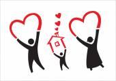 Adoption or parenthood concept vector Editable Clip Art