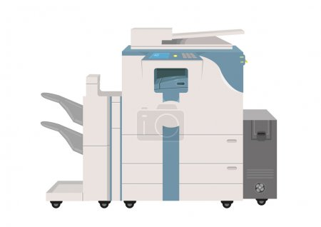 Hi-tech Photocopier Machine. EPS10 Vector Illustration. Editable Clip Art.