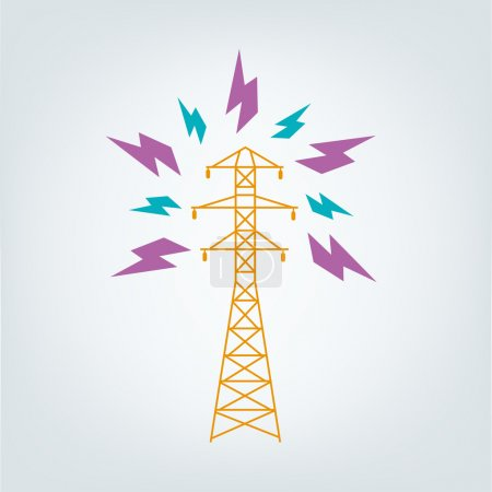 Transmission Tower Icon. Editable Clip Art.