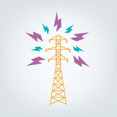 Illustration of Transmission Tower Icon concept Vector EPS10