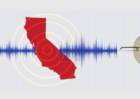 Illustration for California Earthquake Concept Vector EPS10 - Royalty Free Image