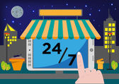 Online Shop Selling Point of Sale System (POS) or Buying stuff via Internet for 24 hours 7 days