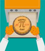 Happy Pi Day concept observed every March 14 Editable Clip art