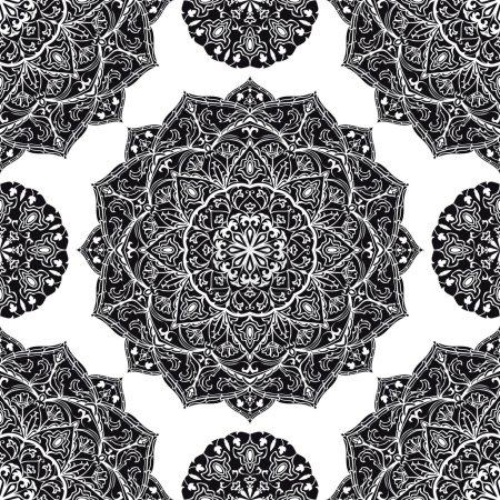 Floral, ornamental pattern.