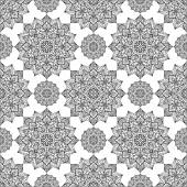 Seamless oriental ornament of mandalas Vector graceful pattern of circular elements Template for tile