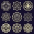 Template for embroidery. Set of mandalas. Collecti...