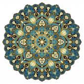 Mandala in blue tones